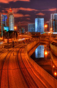 #Photography #CityScape #TelAviv #Israel, The Ayalon looking north by Meir Jacob | מאיר יעקב, via Flickr