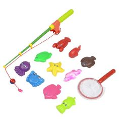 Child Plastic Retractable Rod Magnetic Lobster Starfish Octopus Fishing Toy Set 12 in 1 Product Name : 12 in 1 Fishing Toy Set;Fit for : Children. Fish Size (approx.) : Max.:8 x 5 x 2cm / 3.1 x 1.9 x 0.7 (L*W*H),Mini.:7 x 3 x 2cm / 2.8 x 1.1 x 0.7 (L*W*H);Fishing Rod Length(Unfolded) : 45cm / 17.7. Landing Net Size : 17 x 8cm / 6.7 x 3.1(L*D);Main Material : Plastic. Color : Green, Red, Y... #Como #Toy