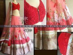 Savvys Saree Bollywood Indian Designer Sari Party Wear Women Lehenga KT-2015 #SavvysStore #LehngaCholi #PartyWearBridalWeddingFestivalReception