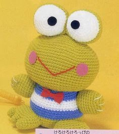 FREE Amigurumi Frog Crochet Pattern and Tutorial - In Japanese diagrams and instructions
