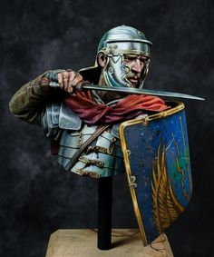 Roman Legionary century - Virtual Museum of Historical Miniatures Military Figures, Military Diorama, Ancient Rome, Ancient History, Roman Era, Roman Soldiers, 1st Century, Fantasy Miniatures, Mini Paintings