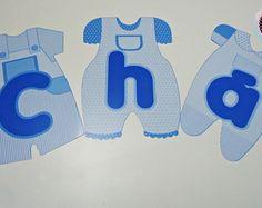Body para Chá de Bebê Azul