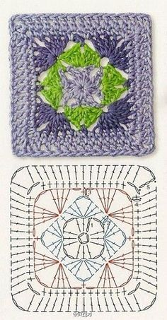 Transcendent Crochet a Solid Granny Square Ideas. Inconceivable Crochet a Solid Granny Square Ideas. Crochet Squares, Motif Mandala Crochet, Crochet Motifs, Granny Square Crochet Pattern, Crochet Diagram, Crochet Chart, Crochet Granny, Granny Squares, Crochet Doilies