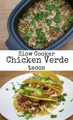 Best Slow Cooker Chicken Chile Verde Recipe on Pinterest