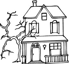 Haunted House Printable Kids can color and customize their house