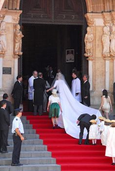 Wedding of Diana Pereiro de Melo, Dutchess of Cadaval and  Prince Charles-Philippe, Duke of Anjou on 21 June 2008, in Evora (Portugal)