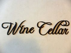 Wine Cellar Words Metal Wall Art Kitchen Home Decor JNJ M... http://a.co/clffX0m