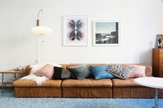 pastel pillows to dress up a couch