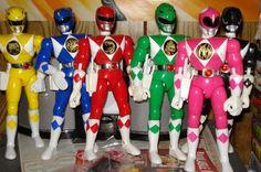 Mighty Morphin Power Rangers action figures