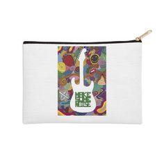 """Make some noise (music)"" #zip #pouche by #Beatrizxe   #Threadless It's inspired in the feeling that music brings #music #guitar #doodle #synesthesia #nirvana #greenDay #evanescence #withinTemptation #RollingStones #colour #noise #melody #color #artwork #artist ///// Está inspirada en los sentimientos que la música provoca #guitarra #sinestesia #ruido #artista #creatividad"