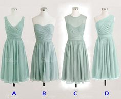 mint bridesmaid dresses, short bridesmaid dresses, chiffon bridesmaid dresses, cheap bridesmaid dresses, 140590