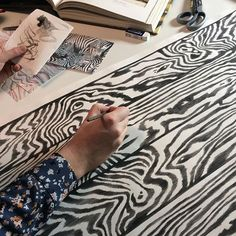"""""""Painting Zebrawood in the Design Studio #artistatwork #painting #handpainted #art #artist #creative #design #pattern #animalprint #blackandwhite #zebra #zebrawood #wallpaper #wallcovering #handcrafted #tapet #behang #papierpeint #papelpintado #tapeter"""" Photo taken by @cole_and_son_wallpapers on Instagram, pinned via the InstaPin iOS App! http://www.instapinapp.com (04/03/2016)"""