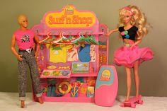 Vintage Barbie 1987 California Dream Surf 'N Shop Play Set with Ken and Barbie