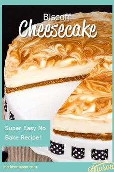 This glorious no bake Biscoff cheesecake (also called Speculoos cheesecake or cookie butter cheesecake) is INTENSELY creamy, rich and delicious! It's the perfect make ahead dessert, ideal for a dinner party, Summer BBQ or family night. Click for the full recipe, helpful tips and your FREE e-cookbook! Make Ahead Desserts, Homemade Desserts, Homemade Cakes, Easy Desserts, Dessert Recipes, Easy Baking Recipes, Fun Easy Recipes, Sweet Recipes, Summer Recipes