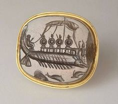 Intaglio. The Warship , 4th century BC Ancient Greece The State Hermitage Museum