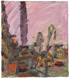 Frank Auerbach (b. Mornington Crescent, Dawn oil on canvas 18 x x Painted in 1992 Frank Auerbach, Classic Paintings, Contemporary Paintings, Paint Meaning, Royal College Of Art, Urban Landscape, Art Auction, Portrait Art, New Art