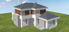 Projekt domu Wyjątkowy 3 203,5 m2 - koszt budowy - EXTRADOM Dream Houses, My Dream Home, Gazebo, Outdoor Structures, Projects, Design, Dream Homes, Kiosk, Blue Prints