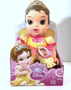 My First Disney Princess Baby Belle Sucks Thumb 12 Months+ Vinyl Doll New  #Disney #Dolls