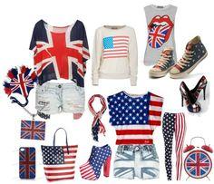 Be my chic: Abanderadas, Bandera Americana VS Bandera del Reino Unido.