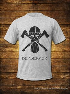 Berserker black men's art print T shirt by BifrostAndBeyond