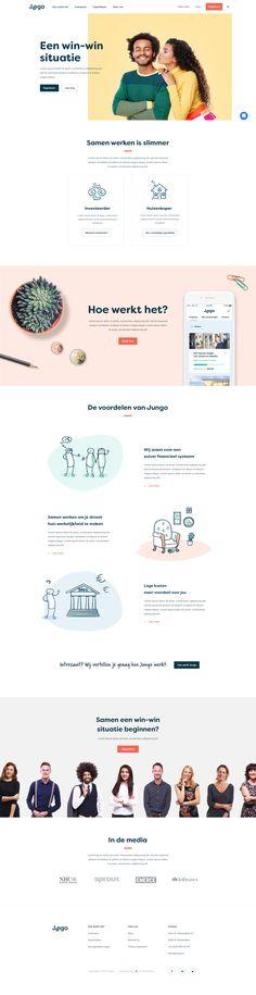 01 jungo homepage Design Your Own Website, Website Design Layout, Web Layout, Clean Web Design, Best Web Design, Modern Website, Wordpress Theme Design, Ui Web, Web Design Trends