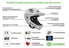Downhill full face bike helmet with detached chin guard Cool Headed, Mountain Bike Helmets, Safety Helmet, Full Face, Bicycle Helmet, China, Cycling Helmet, Porcelain