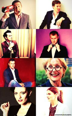 Everyone looks so respectable... and then there's Martin. :)
