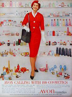 1960 Avon Cosmetics Vintage Advertisement by RelicEclectic on Etsy #RelicEclectic #VintageAd #Avon #VintageWallArt #VintageMakeUpPrint