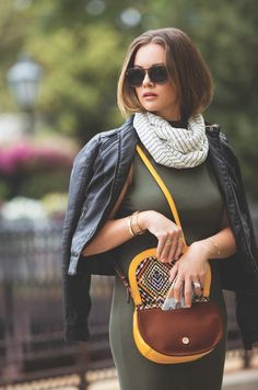 Spotted: Blogger @kbstyled in People Style Watch showing her favorite fall looks. See how she styles 4 different bags.