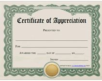 Free printable certificates certificate of appreciation free printable certificates of appreciation awards templates yadclub Images