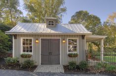 Modern Craftsman potting shed by Hefferlin + Kronenberg, general style