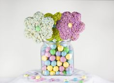 Rice Krispie Bouquet... I think I can handle this. Easy Peasy Easter Surprise