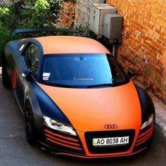 Orange and Black Audi Audi Sports Car, Audi Cars, Audi Suv, Audi Supercar, Supercars, Audi For Sale, Audi 2017, Black Audi, Show Trucks