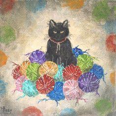 Kitty in the Yarn Balls !!!!