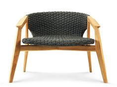 teak garden armchair with armrests Knit | armchair, design Patrick Norguet, Knit collection to manufacturer Ethimo
