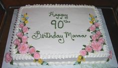 cake designs for 90th birthday   this 90th is a favorite of many people, a simple yellow butter cake ...