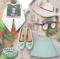 Trendy mint colour fashion collection