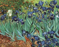 Irises by Vincent van Gogh. Impressionism by Vincent Van Gogh. Van Gogh paintings are studies in color. Be inspired by his art to help you understand how to put a paint color scheme together. Art Van, Van Gogh Art, Vincent Van Gogh, Most Expensive Painting, Van Gogh Pinturas, Iris Painting, Van Gogh Paintings, Artwork Paintings, Paintings Online