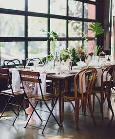 places to borrow tables and chairs crate barrel village chair 74 best dining images dream wedding marriage reception modern pink black smogshoppe kara matt chairswedding table