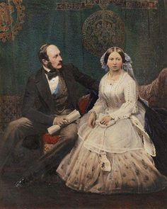 Queen Victoria and her husband, Prince Albert of Saxe-Coburg and Gotha, Queen Victoria Family, Victoria Reign, Queen Victoria Prince Albert, Victoria And Albert, Princess Victoria, Victoria Queen Of England, Royal Queen, King Queen, Queen Victoria Birthday