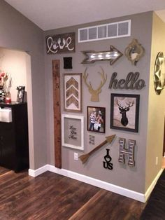 Adorable wall, some decor came from hobby lobby More