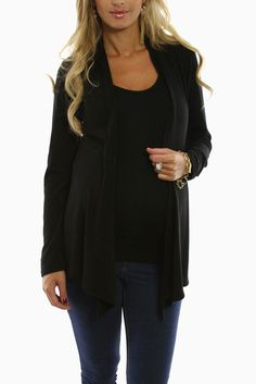 Black-Maternity-Cardigan