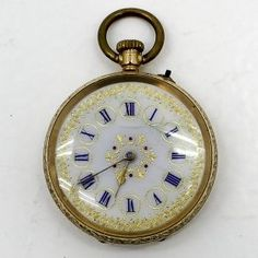 14KG Pocket Watch Pendant Watch, Pocket Watch Antique, Pocket Watches, Red Coral, China Porcelain, Clocks, Antiques, Accessories, Vintage