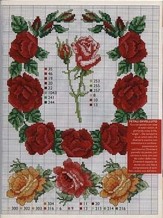 Borda estas rosas muy realistas en toallas,cojines,o relojes,aunque a mi personalmente me gustan más en un mantel.