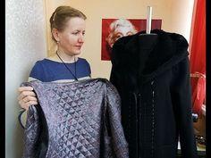 Соединяем подкладку с верхом пальто - YouTube Sewing Tutorials, Sewing Hacks, Sewing Patterns, Jacket Pattern, Create And Craft, Pattern Making, Diy Dress, Merino Wool Blanket, Sewing Techniques