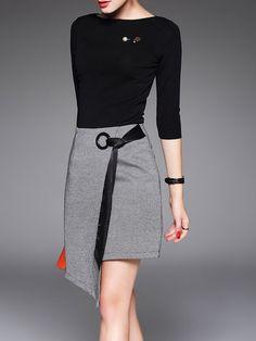 c6e10e0278e2 Shop Midi Dresses - Crew Neck Two Piece 3 4 Sleeve Elegant Acrylic Midi  Dress. Orange Midi DressPink DressWhite ...