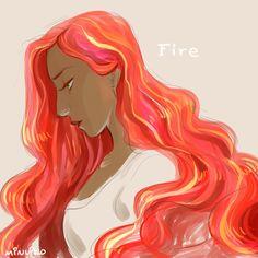 Fire's hair is always so fun