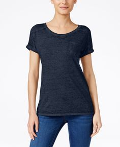 Style & Co. Burnout T-Shirt, Only at Macy's