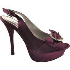 Women's Allure Bridals Divine Purple Satin | Overstock.com Shopping - Great Deals on Allure Bridals Heels