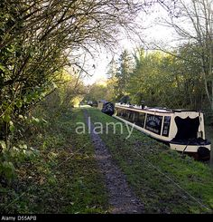 Narrowboats on the South Oxford Canal, Upper Heyford, Oxfordshire